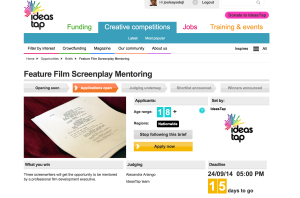 IdeaTap Screenplay Mentoring Pitch